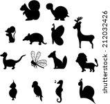Stock vector animal silhouettes 212032426