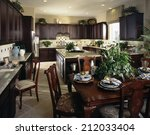 dining room architecture stock... | Shutterstock . vector #212033404