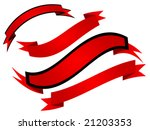 red ribbon isolated on white... | Shutterstock .eps vector #21203353