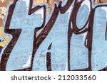beautiful street art graffiti.... | Shutterstock . vector #212033560