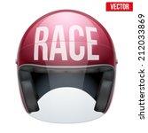 high quality motorcycle helmet... | Shutterstock .eps vector #212033869