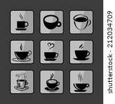 cup icons | Shutterstock .eps vector #212034709