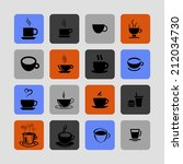 cup icons | Shutterstock .eps vector #212034730