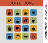 cup icons | Shutterstock .eps vector #212034856