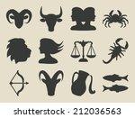 astrological signs set   vector ... | Shutterstock .eps vector #212036563