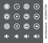 audio and music bold icon set ... | Shutterstock .eps vector #212042704