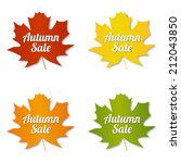 autumn sale labels | Shutterstock .eps vector #212043850