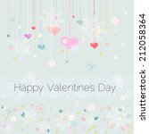 happy valentines day card | Shutterstock . vector #212058364