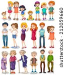 illustration of a set of family | Shutterstock .eps vector #212059660