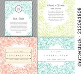wedding invitation cards with... | Shutterstock .eps vector #212061808