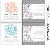 wedding invitation cards with... | Shutterstock .eps vector #212061838