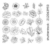 flower set | Shutterstock .eps vector #212063953