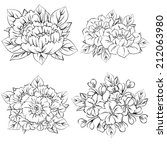 flower set | Shutterstock .eps vector #212063980