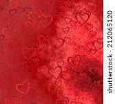 hearts texture background  | Shutterstock . vector #212065120