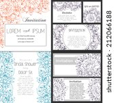 set of invitations with floral... | Shutterstock .eps vector #212066188