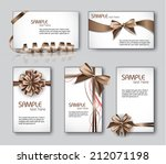 set of business or gift cards. | Shutterstock .eps vector #212071198