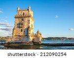 tower of belem  torre de belem  ... | Shutterstock . vector #212090254