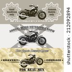 retro motorcycle banners... | Shutterstock . vector #212092894