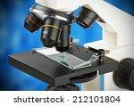 Microscope Lenses Focused On A...