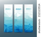 abstract vector vertical banner | Shutterstock .eps vector #212115514
