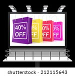 forty percent off shopping bags ... | Shutterstock . vector #212115643