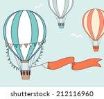Air Balloons With Party Ribbon...