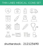 collection of medical icons in... | Shutterstock .eps vector #212125690
