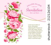 card of color flowers and text... | Shutterstock .eps vector #212126104