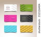 business card set | Shutterstock .eps vector #212126404