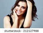 portrait of a happy attractive... | Shutterstock . vector #212127988