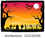 vector illustration of a spooky ... | Shutterstock .eps vector #212131030