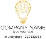 light bulb idea with brain... | Shutterstock .eps vector #212132386