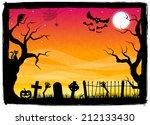 illustration of a spooky... | Shutterstock . vector #212133430