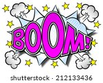illustration of a comic sound... | Shutterstock . vector #212133436