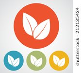 leaf icon  vector illustration. ... | Shutterstock .eps vector #212135434