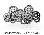 gears isolated on white...   Shutterstock . vector #212147608