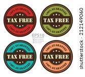 vector   circle vintage tax... | Shutterstock .eps vector #212149060