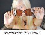 fashion young blonde woman's... | Shutterstock . vector #212149570
