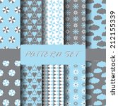 set of blue and gray different  ... | Shutterstock .eps vector #212155339
