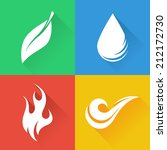 four natural elements   earth ... | Shutterstock .eps vector #212172730