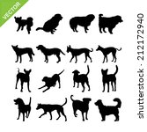 dogs silhouettes vector | Shutterstock .eps vector #212172940