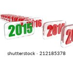 2015 new year selection concept ... | Shutterstock . vector #212185378