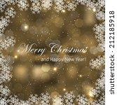 abstract christmas vector... | Shutterstock .eps vector #212185918