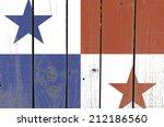 Panama Flag On Wooden...