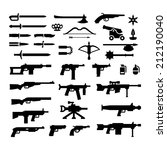 set icons of weapons isolated... | Shutterstock .eps vector #212190040