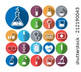 set of science icons | Shutterstock .eps vector #212190043