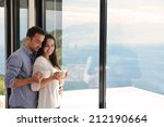romantic happy young couple... | Shutterstock . vector #212190664