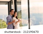 romantic happy young couple... | Shutterstock . vector #212190670