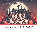 happy halloween. halloween...   Shutterstock .eps vector #212190799