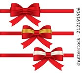red ribbon  colorful gift bows... | Shutterstock .eps vector #212191906